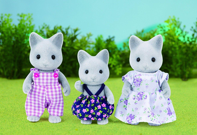 Комплект фигурки Sylvanian Families - Семейство котета, сиви - 2