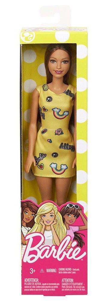 Кукла Mattel Barbie - Жълта рокля - 1