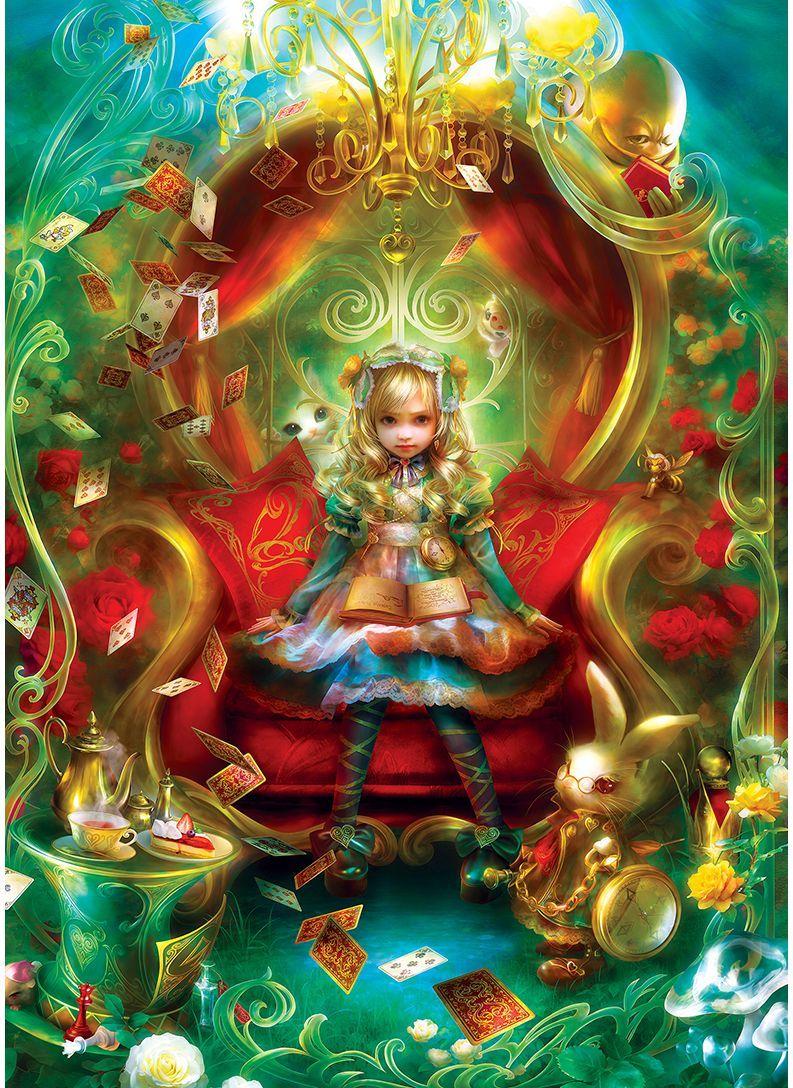Пъзел в кутия-книга Master Pieces от 1000 части - Алиса в Страната на чудесата, чаено парти - 3