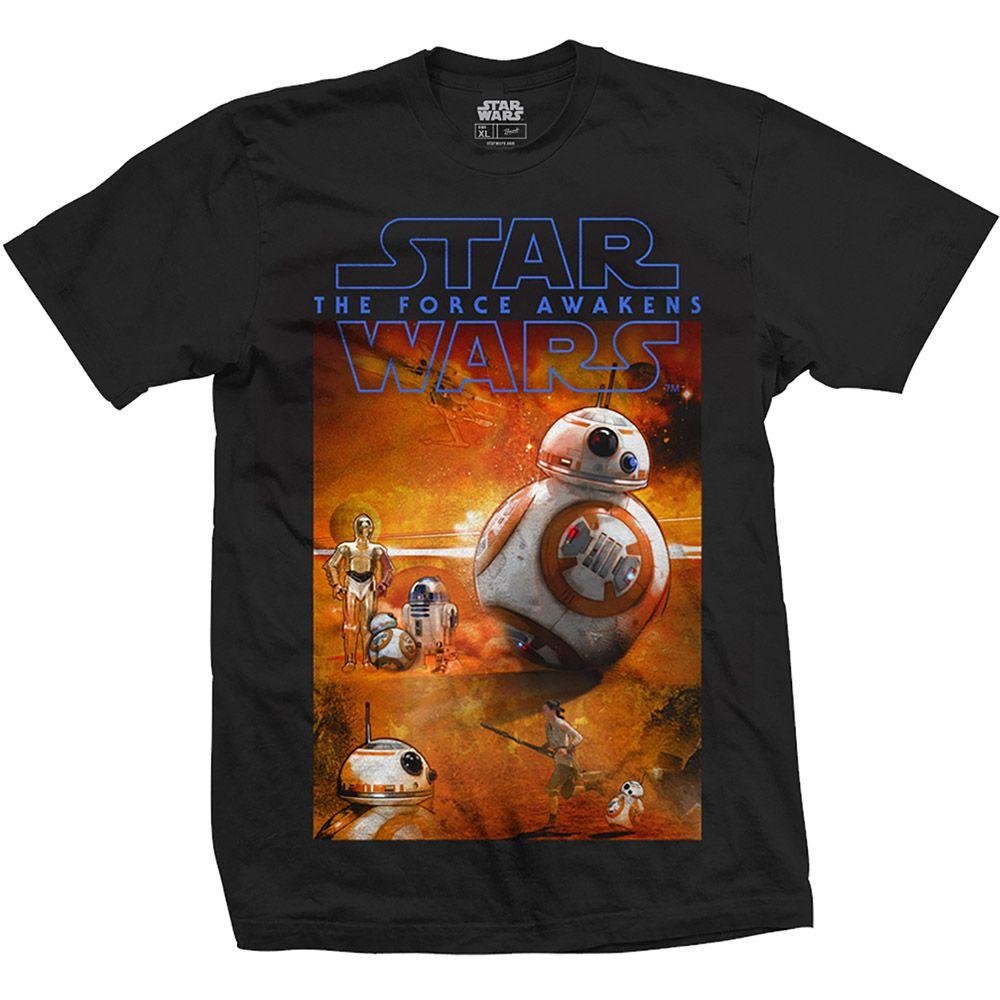 Тениска Rock Off Star Wars - Episode VII BB-8 Composition - 1