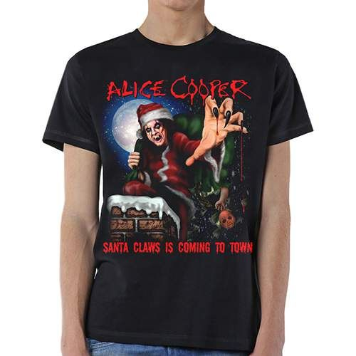Тениска Rock Off Alice Cooper - Santa Claws - 1