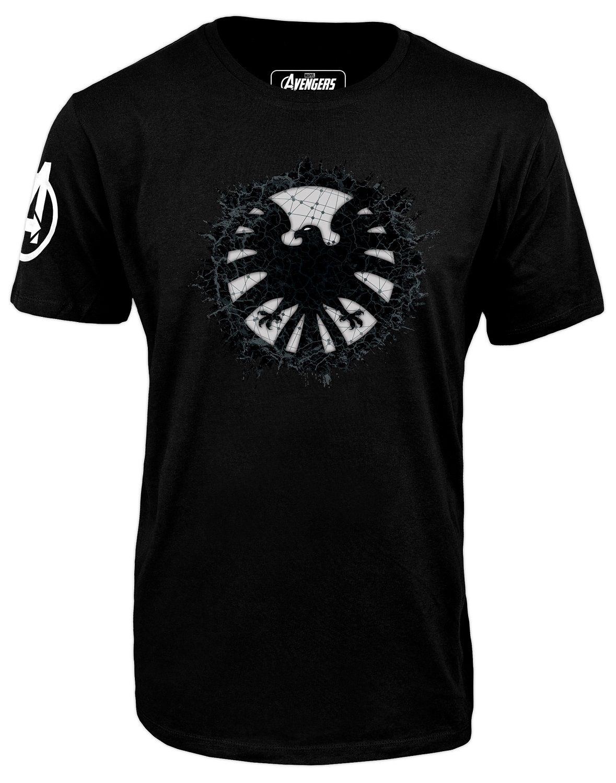 Тениска Avengers - S.H.I.E.L.D Logo, черна - 1