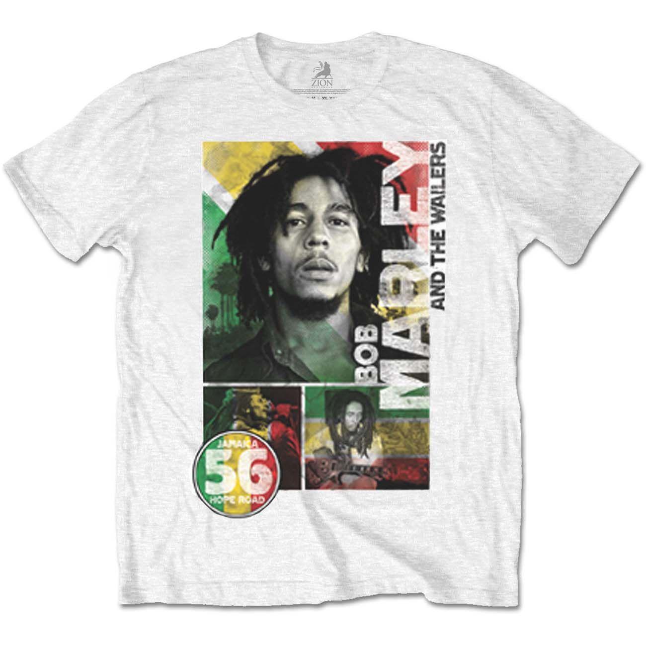 Тениска Rock Off Bob Marley - 56 Hope Road Rasta - 1