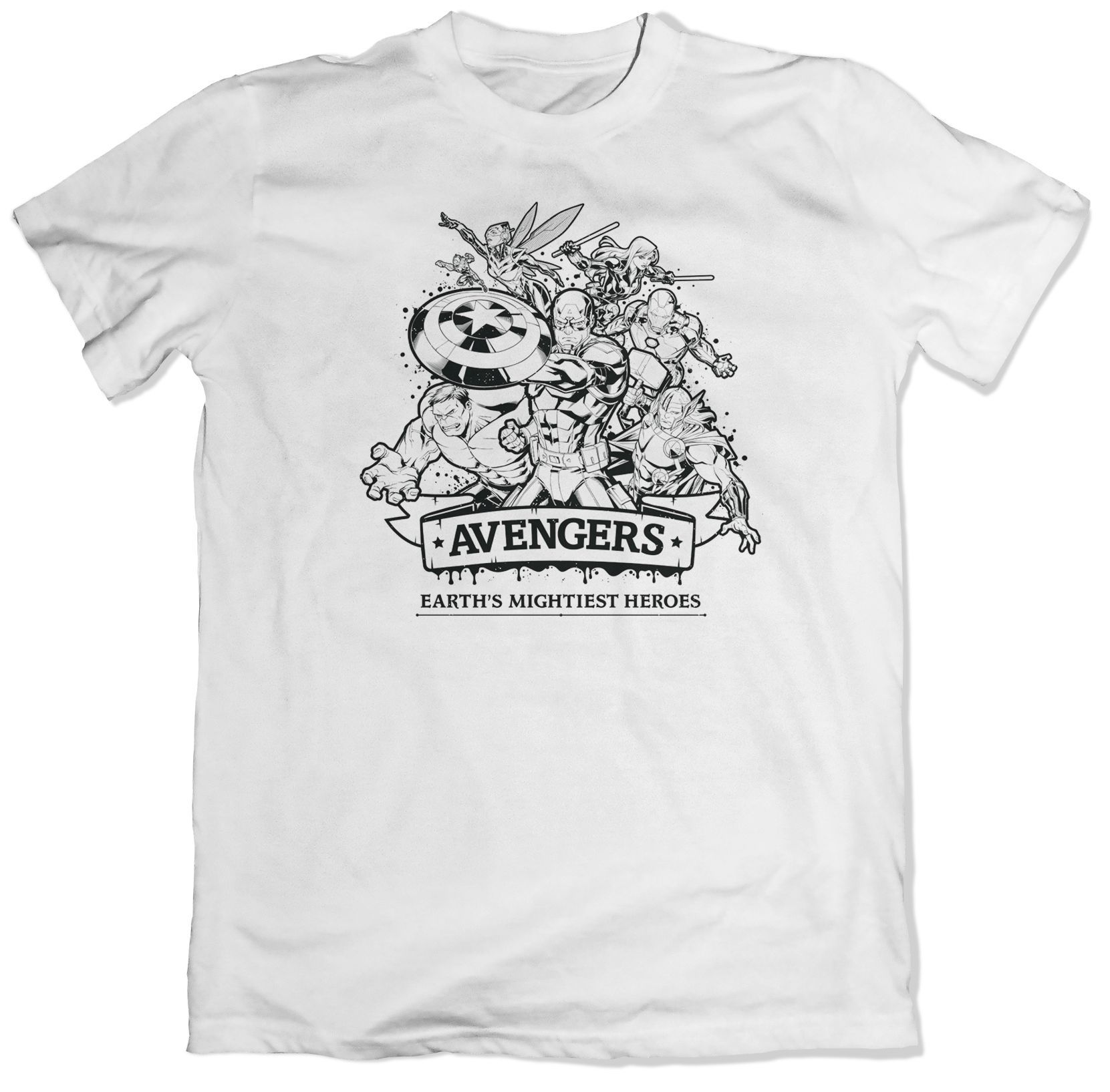 Тениска Avengers - Earth's Mightiest Heroes, бяла - 1