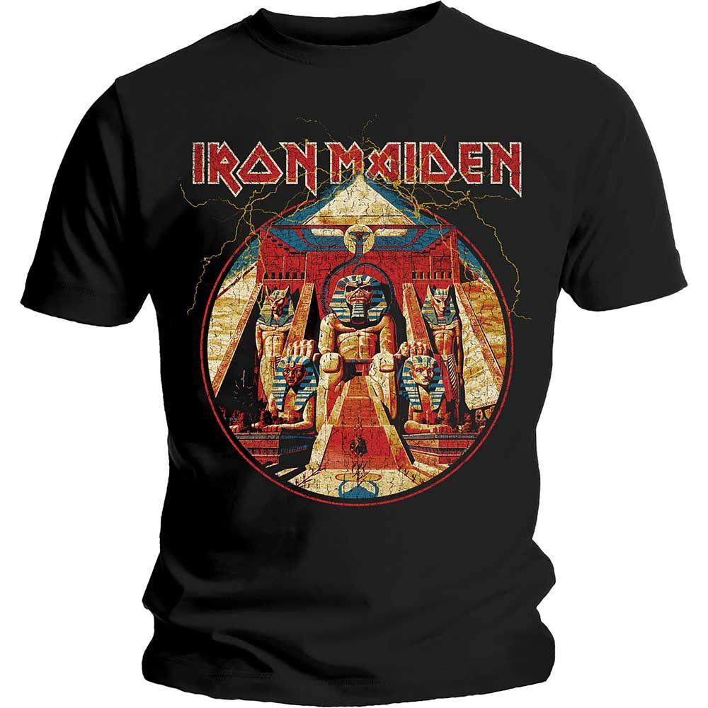 Тениска Rock Off Iron Maiden - Powerslave Lightning Circle - 1