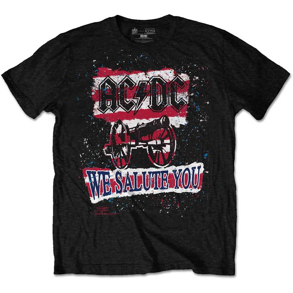 Тениска Rock Off AC/DC - We Salute You Stripe - 1
