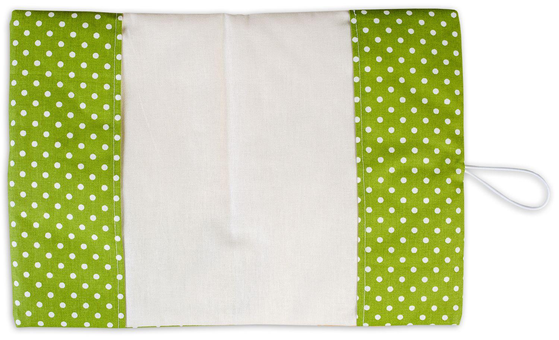 Текстилна подвързия за книга Портокал (зелен фон) - 5