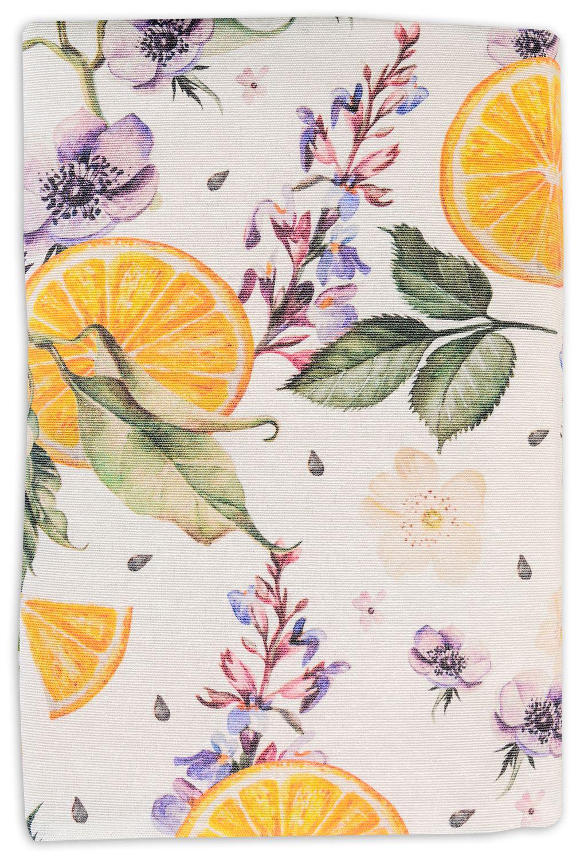 Текстилна подвързия за книга Портокал (зелен фон) - 3