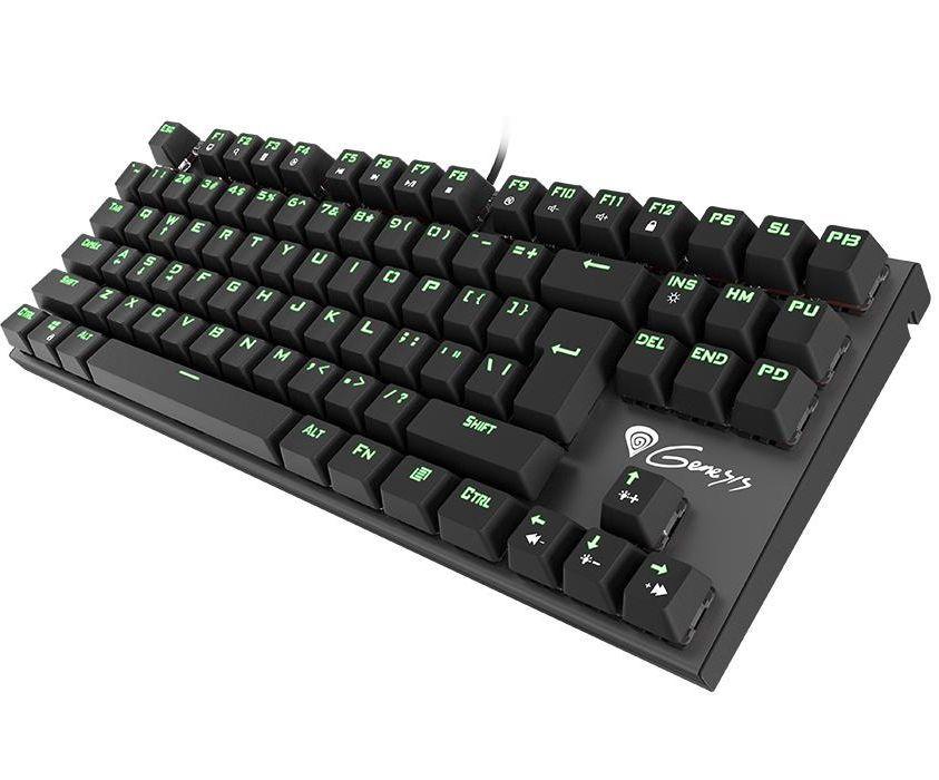 Механична клавиатура Genesis Thor 300 - TKL, сини суичове, зелена подсветка - 1