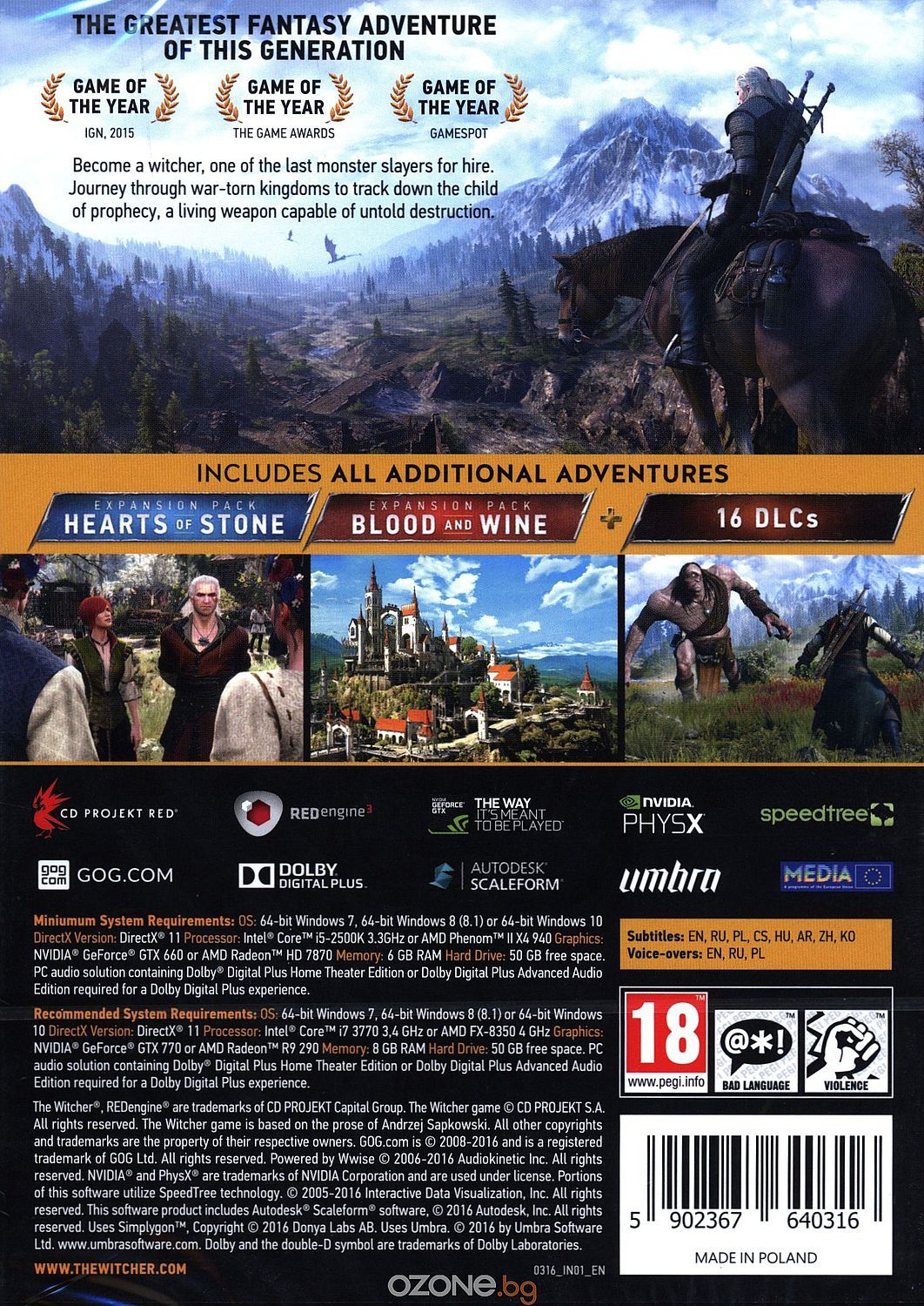 The Witcher 3: Wild Hunt GOTY Edition (PC) - 13