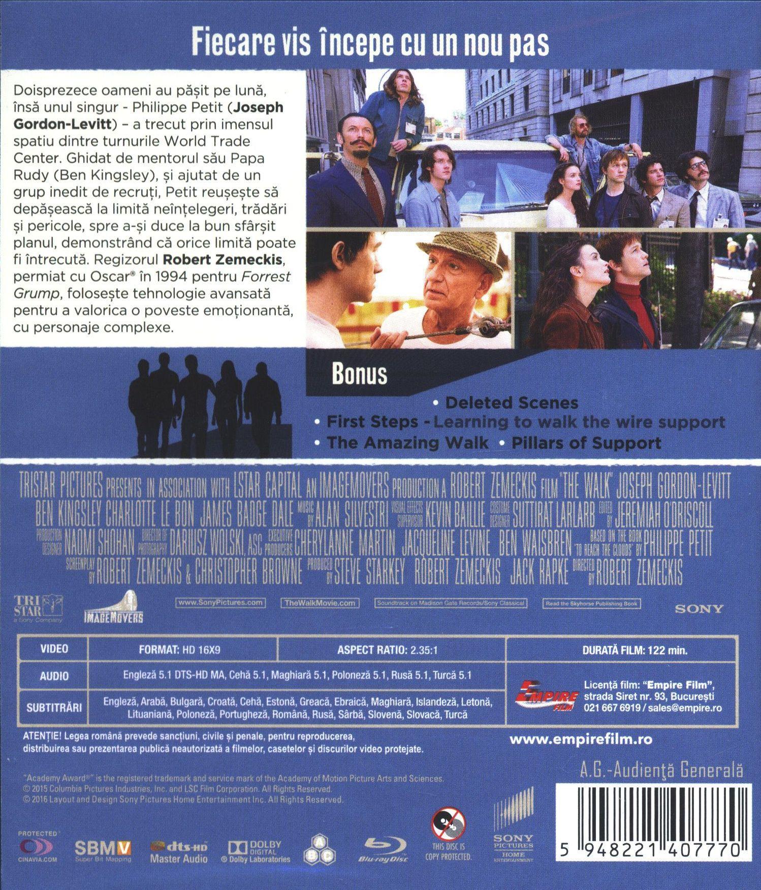 The Walk: Живот на ръба 3D (Blu-Ray) - 2