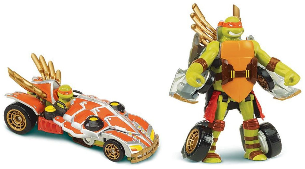 Делукс фигурка Playmtes - Костенурките нинджа, трансформираща се в кола - 4