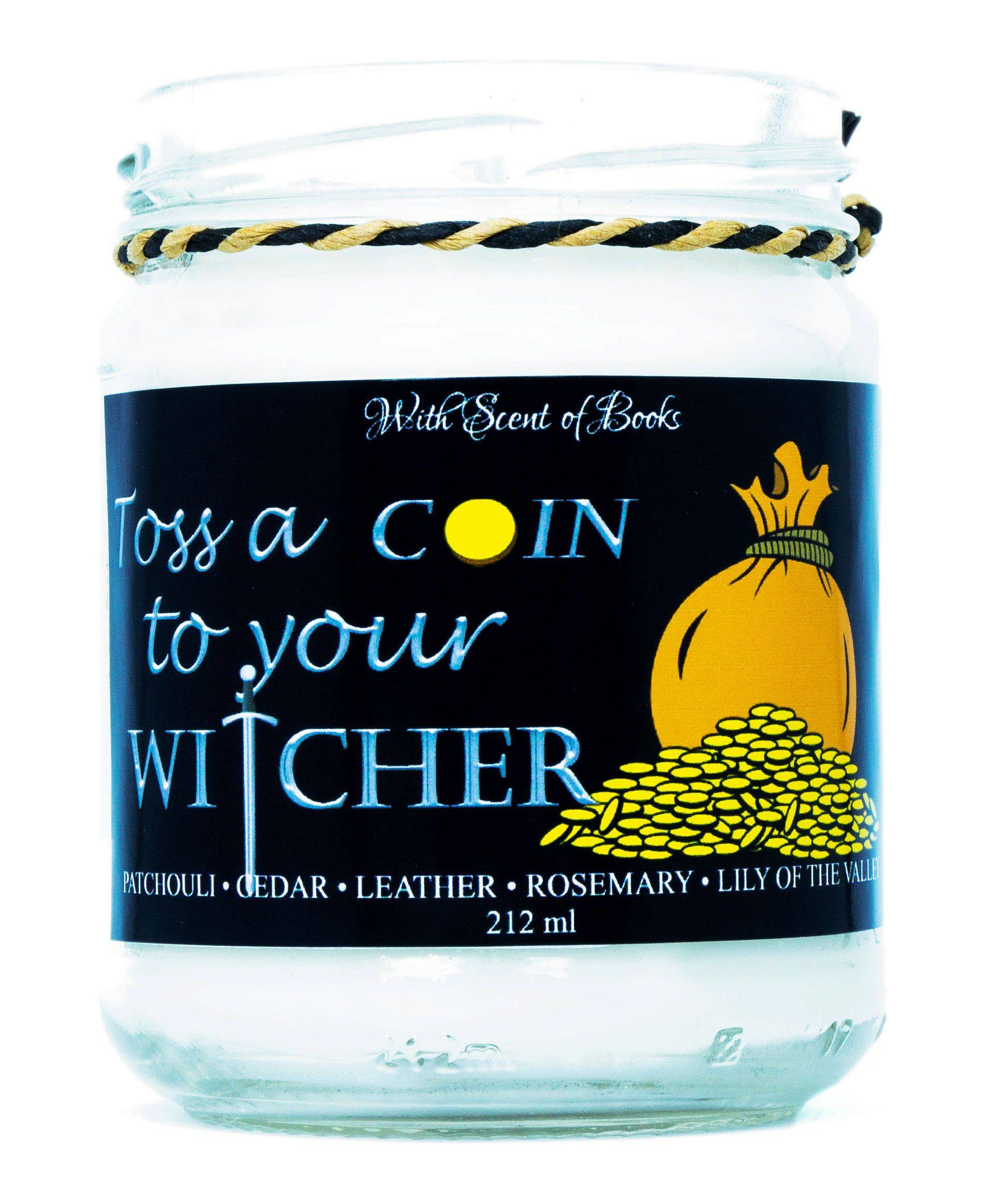 Ароматна свещ The Witcher - Toss a Coin to Your Witcher, 212 ml - 1