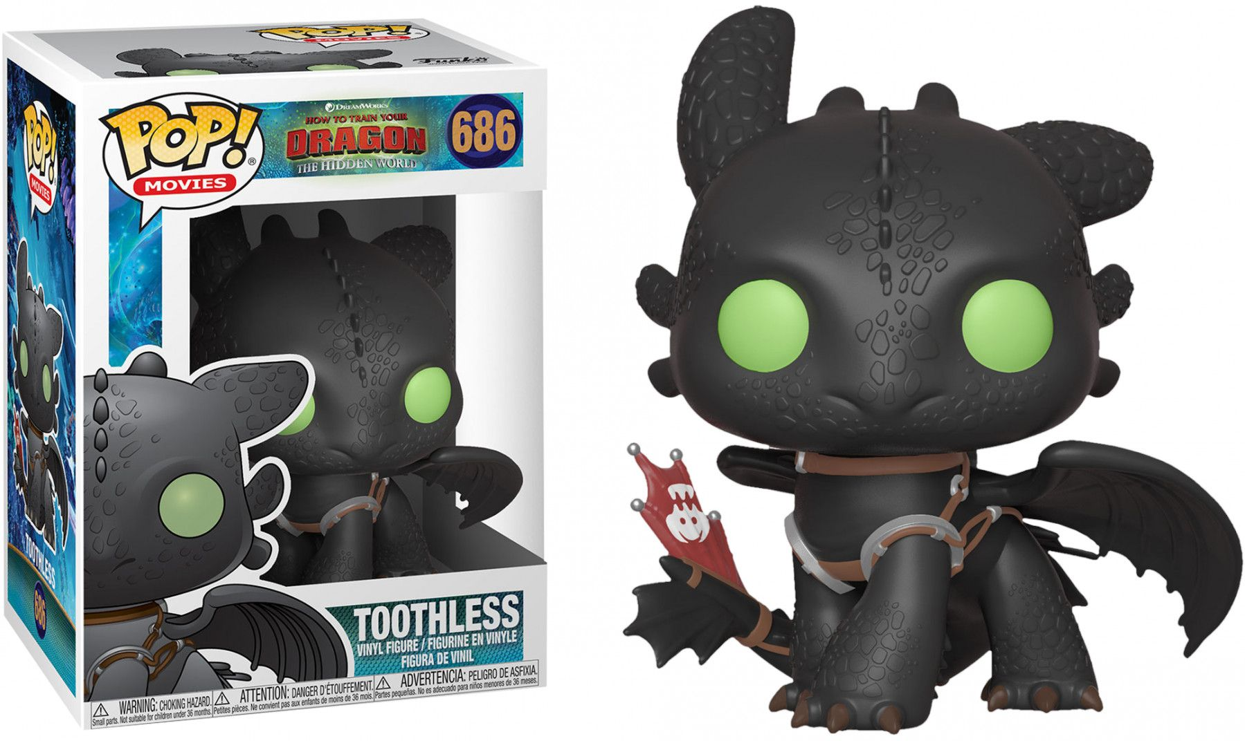 Фигура Funko Pop! How to Train Your Dragon 3 - Toothless, #686 - 2