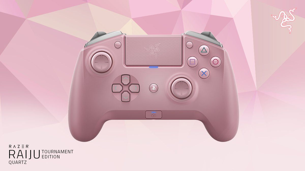 Контролер Razer Raiju Tournament Edition - Quartz, розов - 2