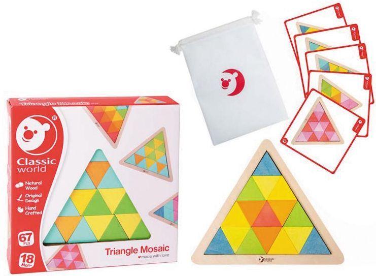 Дървена мозайка Classic World – Триъгълник - 2