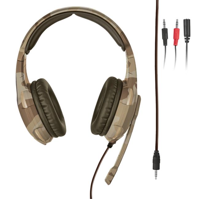 Гейминг слушалки Trust GXT 310D Radius - desert camo - 3