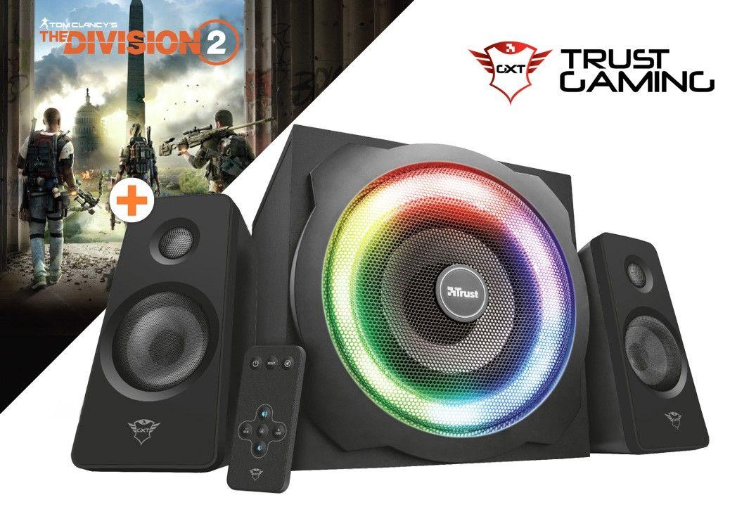 Комплект тонколони Trust GXT 629 Tytan + The Division 2 (PC) - 1