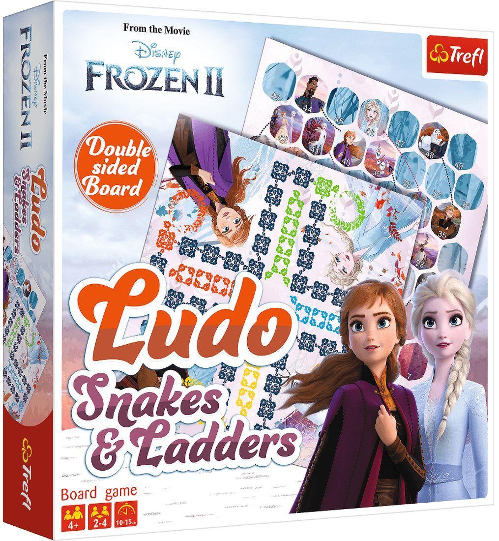 Детска игра Trefl Frozen 2 - Не се сърди, човече и Змии и стълби - 1