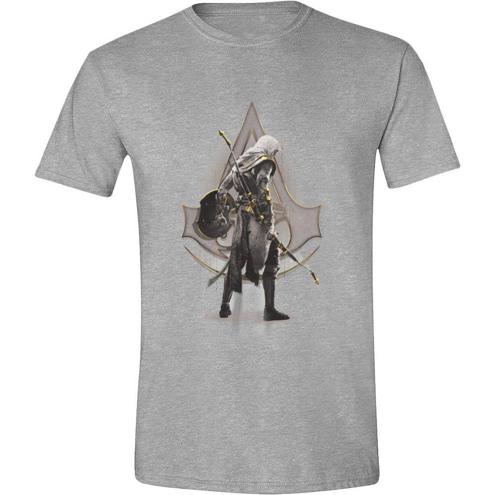 Тениска Assassin's Creed: Origins - Character Stance, сива - 1