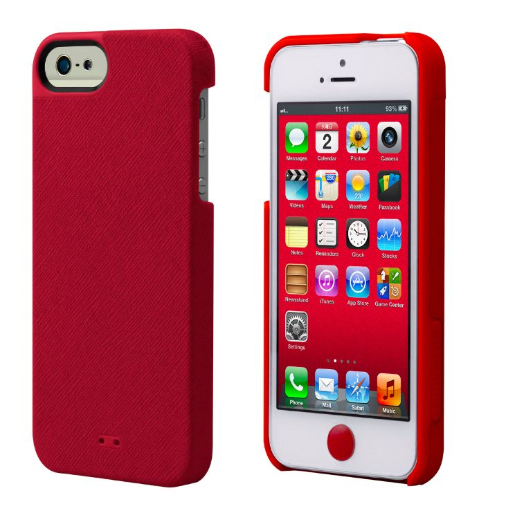 Tunewear Leatherlook за iPhone 5 -  червен - 1