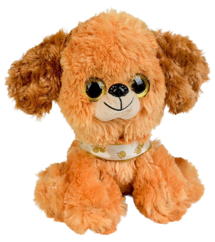 Плюшена играчка Morgenroth Plusch - Кафяво кученце, 20 cm - 1