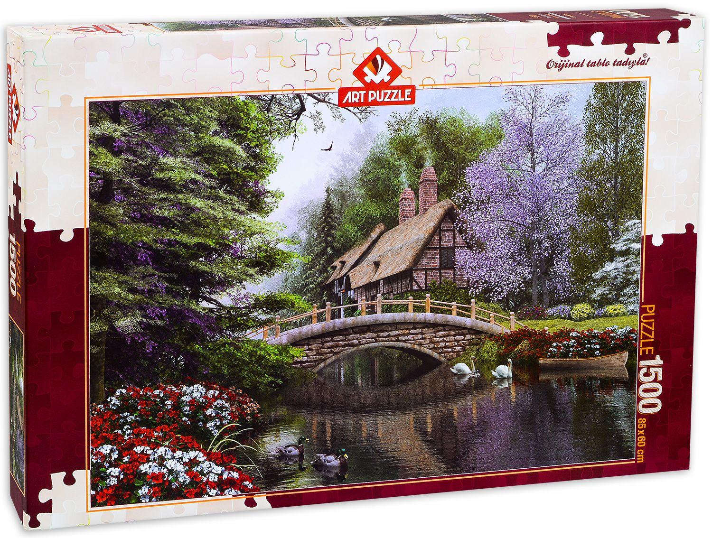 Пъзел Art Puzzle от 1500 части - Каменният мост, Доминик Дейвисън - 1