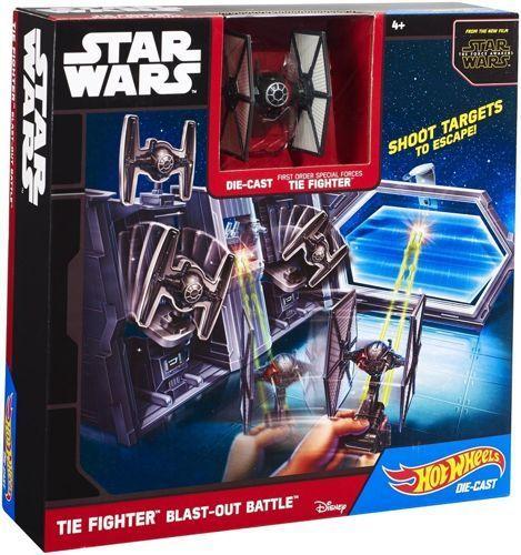 Hot Wheels Star Wars Игрален комплект - Tie Fighter - 1