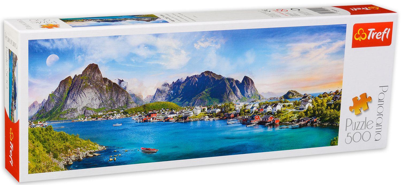 Панорамен пъзел Trefl от 500 части - Лофотенски архипелаг, Норвегия - 2