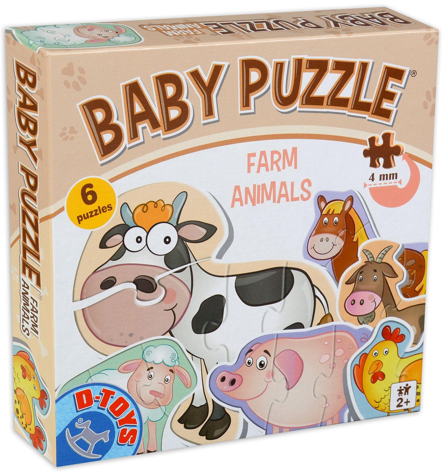 Бебешки пъзел D-Toys 6 в 1 - Животните от фермата - 1