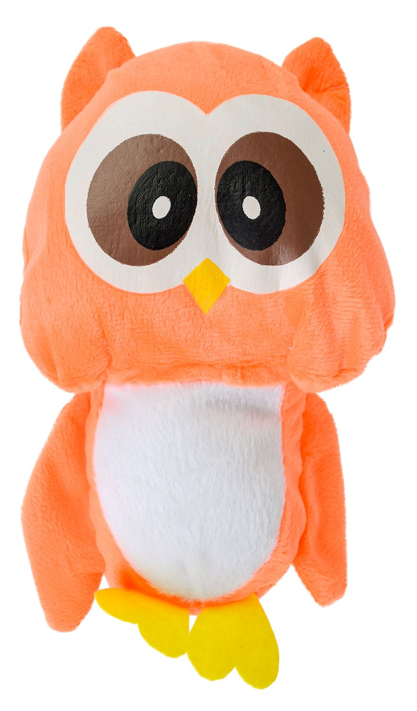 Плюшена играчка Morgenroth Plusch - Оранжево бухалче, 22 cm - 1