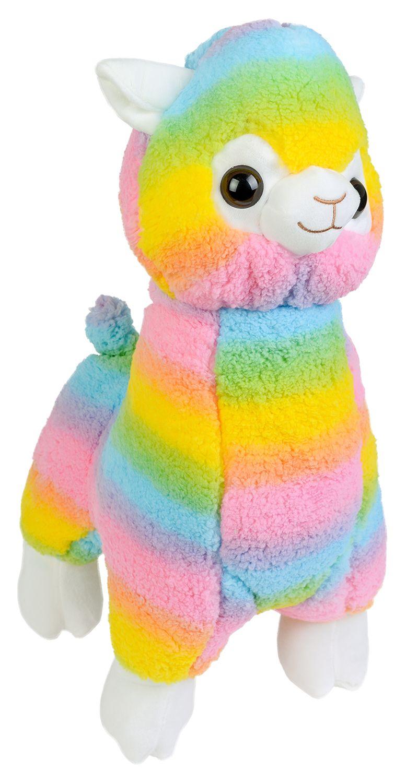 Плюшена играчка Morgenroth Plusch - Алпака в цветовете на дъгата, 35 cm - 1