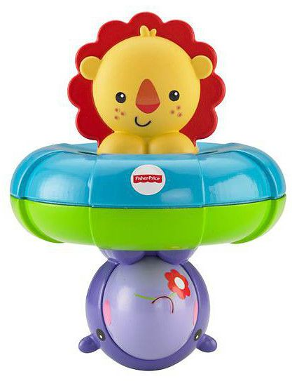 Играчка за баня Fisher Price - С лъв и хипопотам - 1