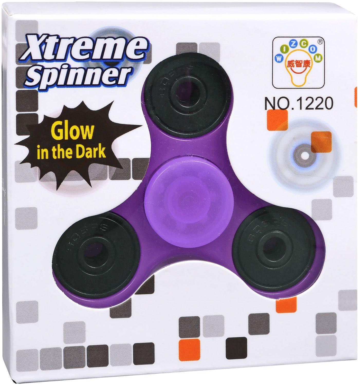 Антистресова играчка Fidget Spinner - Наситено лилав - 1