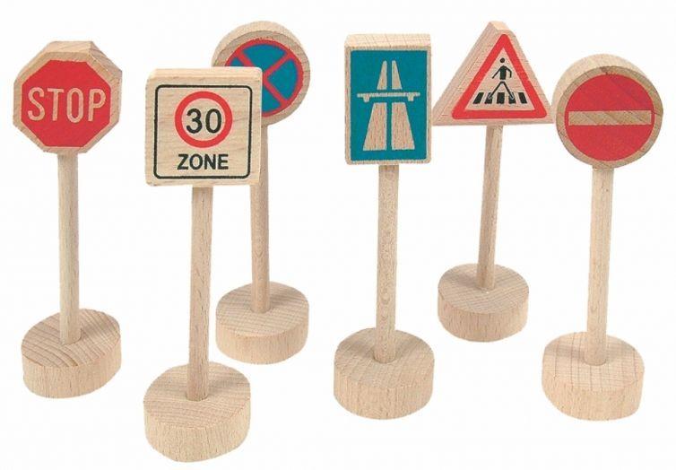 Дървени аксесоари Woody – Пътни знаци - 1