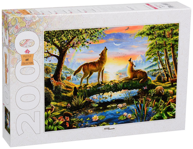 Пъзел Step Puzzle от 2000 части - Вълци - 1