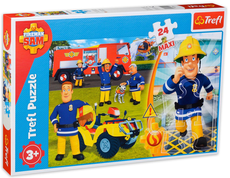 Пъзел Trefl от 24 макси части - Смелият пожарникар Сам - 2