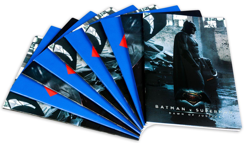Комплект от 10 двулицеви тетрадки Batman - A4, 42 листа, широки редове - 1