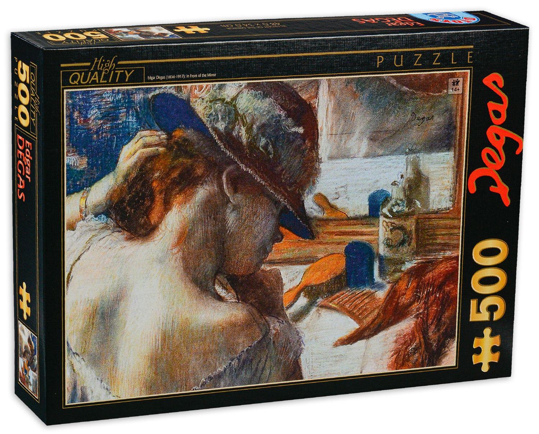 Пъзел D-Toys от 500 части - Пред огледалото, Едгар Дега - 1