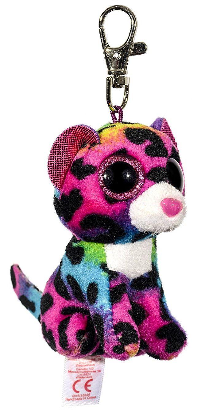 Ключодържател TY Beanie Boos - Шарен леопард Dotty - 1