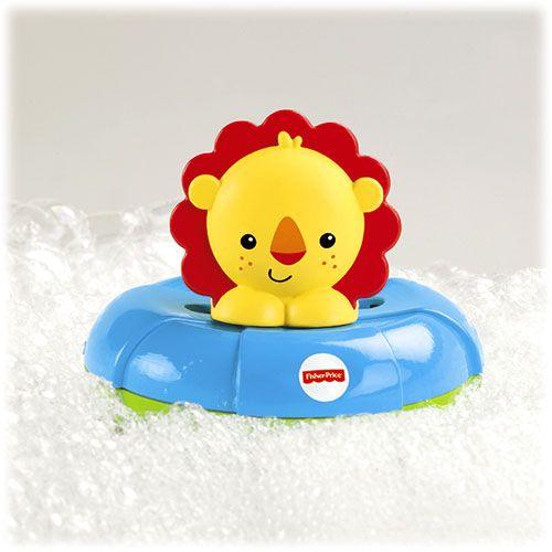 Играчка за баня Fisher Price - С лъв и хипопотам - 2