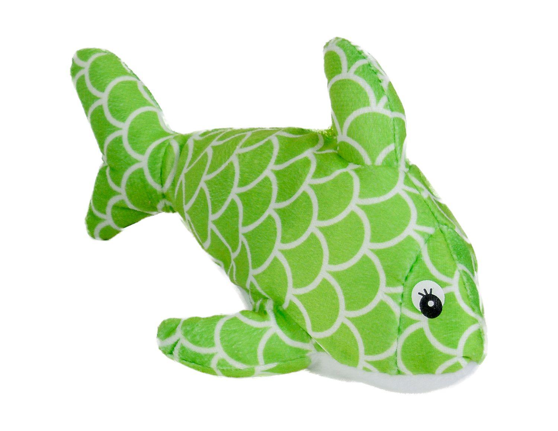 Плюшена играчка Morgenroth Plusch - Зелена рибка, 22 cm - 1