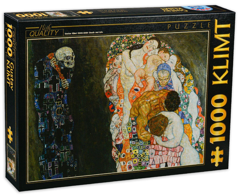 Пъзел D-Toys от 1000 части – Живот и смърт, Густав Климт - 1