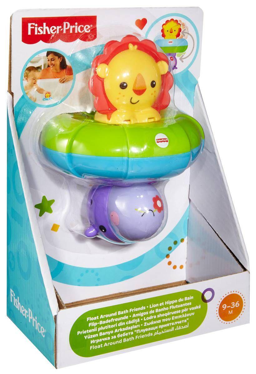 Играчка за баня Fisher Price - С лъв и хипопотам - 4