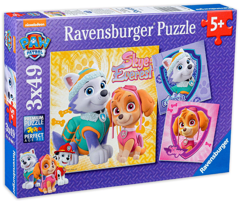 Пъзел Ravensburger от 3 x 49 части - Скай и Еверест, Пес Патрул - 2