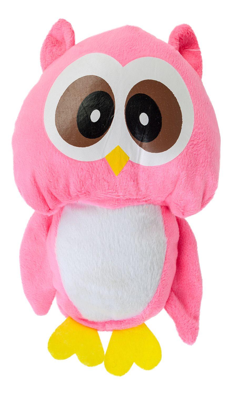 Плюшена играчка Morgenroth Plusch - Розово бухалче, 22 cm - 1
