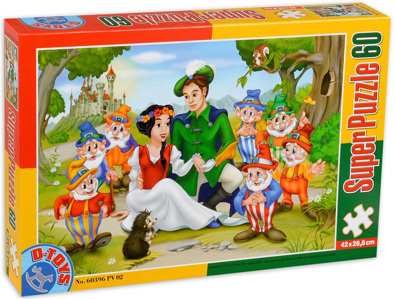Пъзел D-Toys от 60 части - Снежанка и седемте джуджета - 1