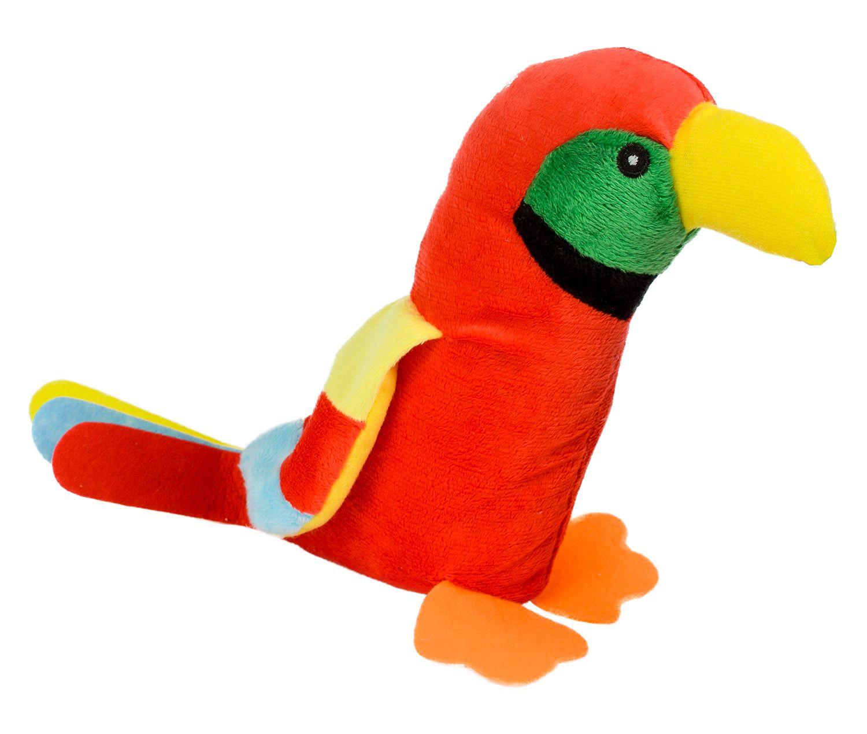 Плюшена играчка Morgenroth Plusch - Червен папагал, 28 cm - 1