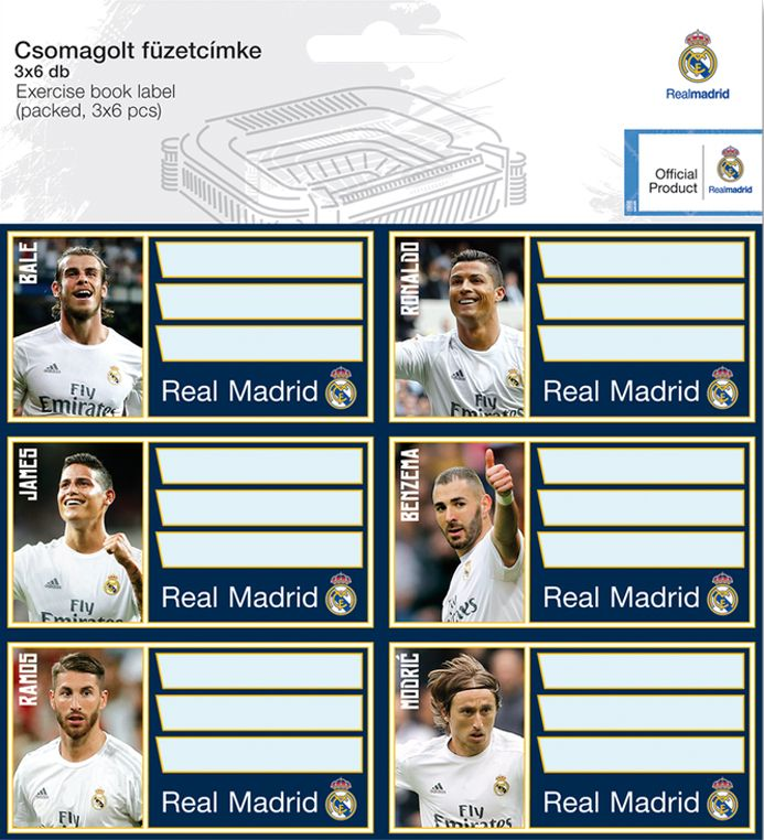 Ученически етикети Ars Una Real Madrid - 18 броя - 1
