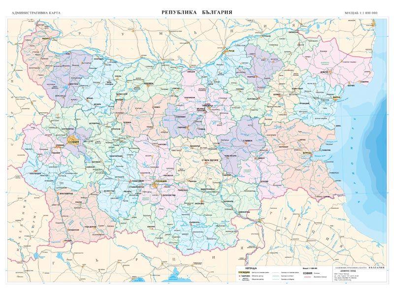 Uchenicheska Karta Na Blgariya Dvustranna 1 1 000 000 Ozone Bg